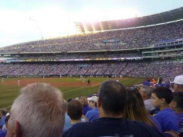 Kauffman Stadium, section: 112, row: R, seat: 5