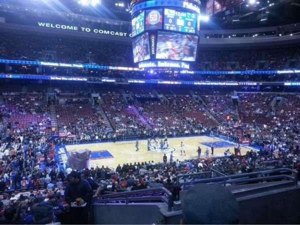 Wells Fargo Center, section: Club Box 23, seat: 18