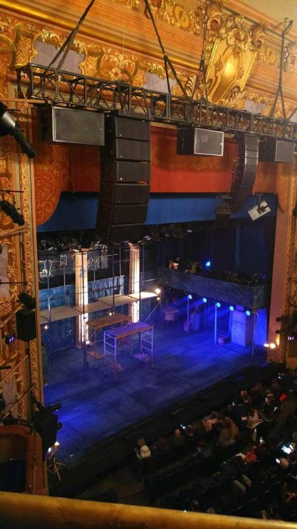 Longacre Theatre, section: balcony l, row: A, seat: 24