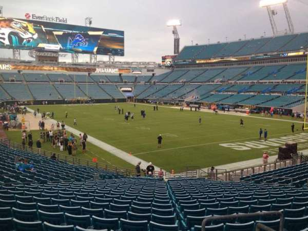 TIAA Bank Field, section: 101, row: AA, seat: 1