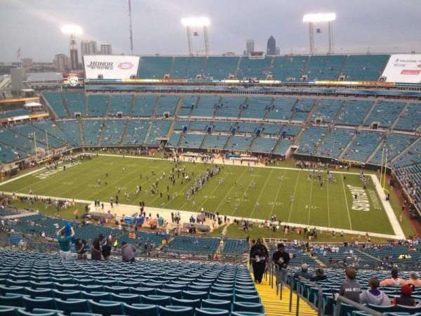 TIAA Bank Field, section: 434, row: AA, seat: 1