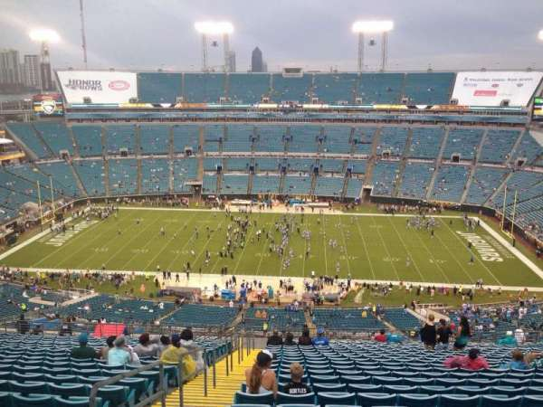 TIAA Bank Field, section: 435, row: BB, seat: 27