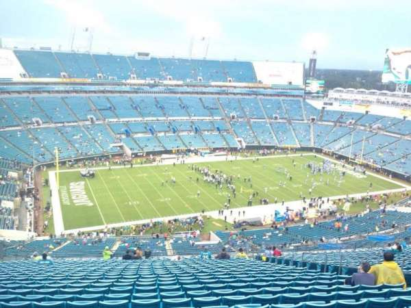 TIAA Bank Field, section: 441, row: EE, seat: 11