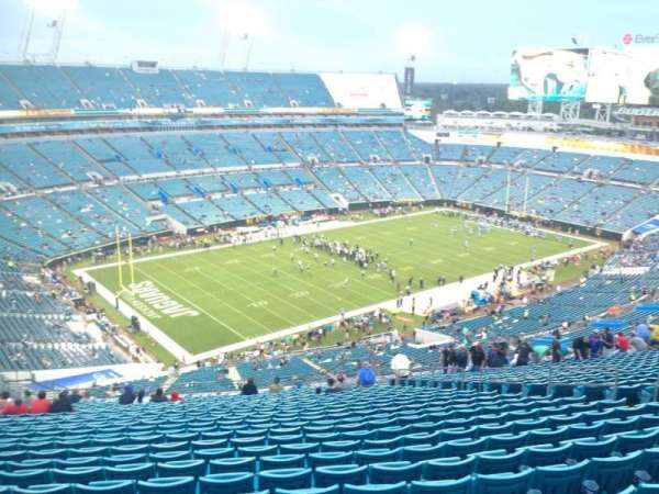 TIAA Bank Field, section: 443, row: EE, seat: 14