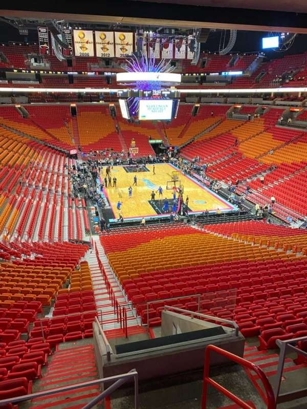 American Airlines Arena, section: 308, row: Barcardi Ocho Lounge, seat: Barcardi Ocho Loun