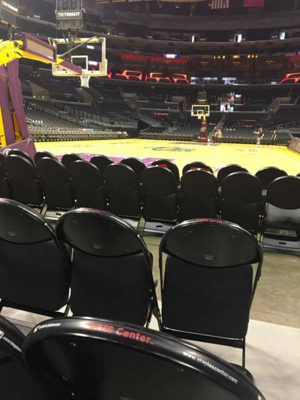 Staples Center, section: 106, row: D, seat: 1