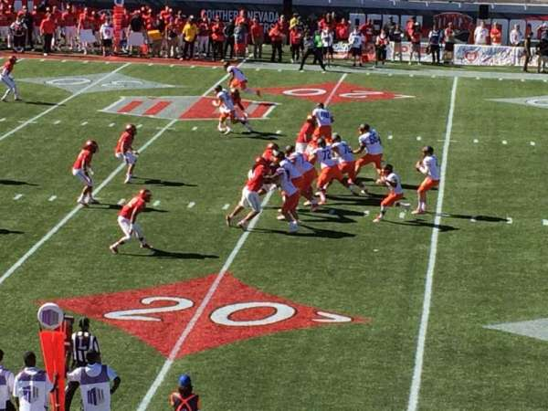 Sam Boyd Stadium, section: 105, row: 23, seat: 1