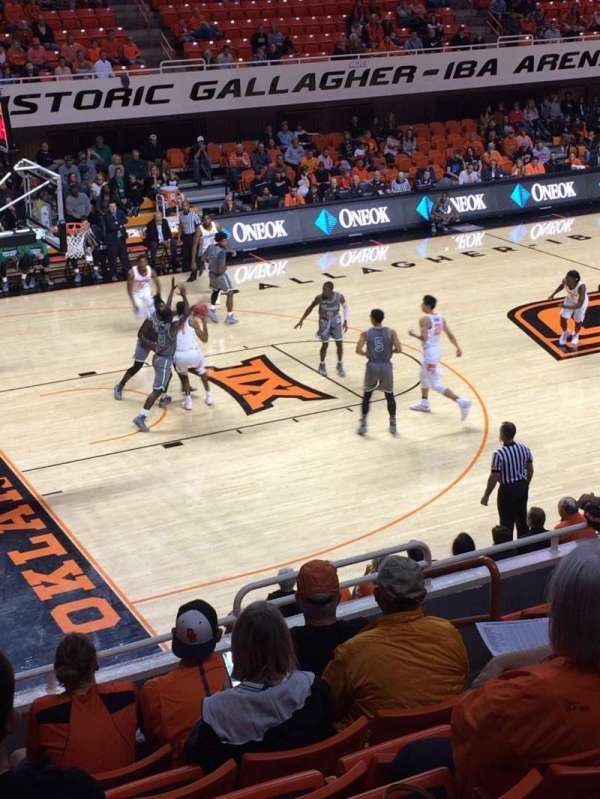 Gallagher-Iba Arena, section: 205, row: 8, seat: 6