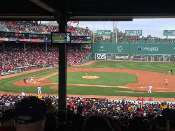 Fenway Park, section: Grandstand 15, row: 17, seat: 23