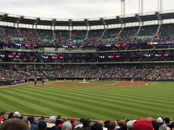 Progressive Field, section: 107, row: Q, seat: 8