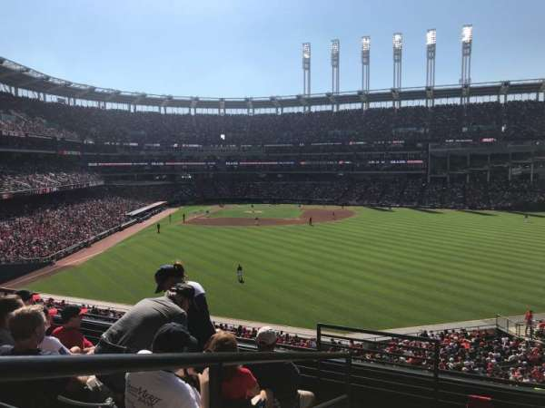 Progressive Field, section: 304, row: F, seat: 25