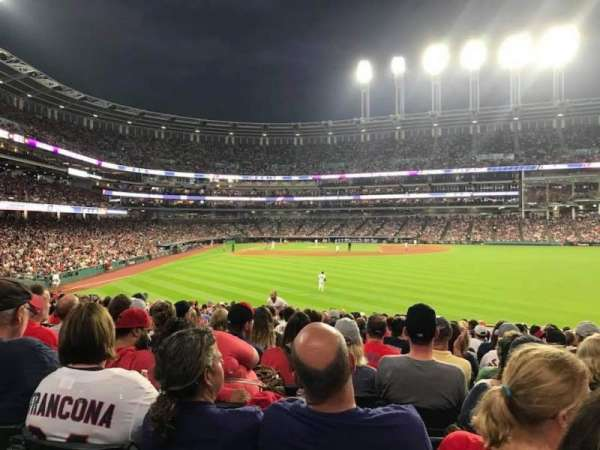 Progressive Field, section: 109, row: R, seat: 3