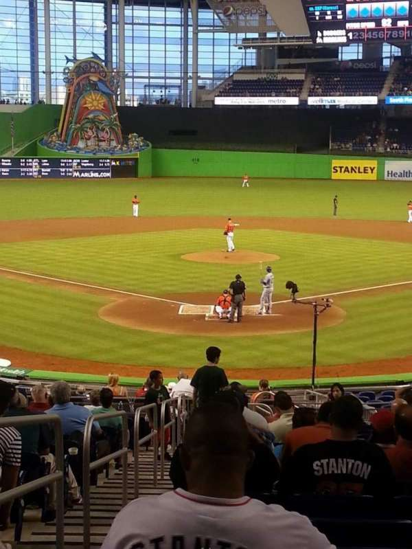 Marlins Park, section: 14, row: 12, seat: 13