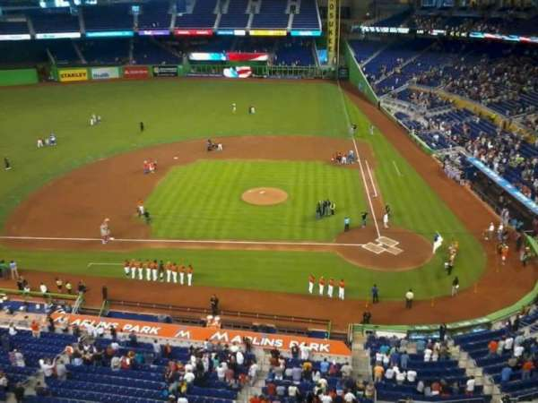 Marlins Park, section: 309, row: A, seat: 2
