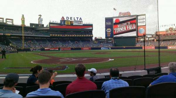 Turner Field, section: 101, row: 3, seat: 9
