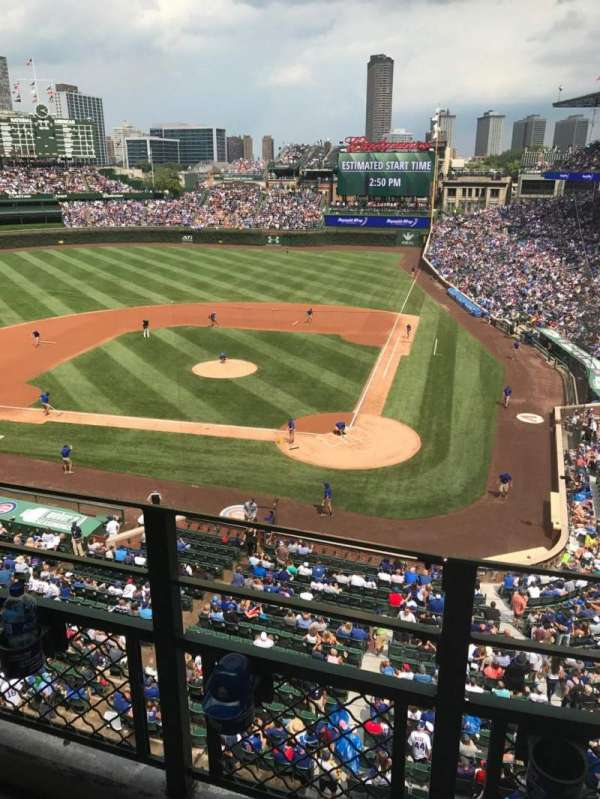 Wrigley Field, section: 314L, row: 2, seat: 5