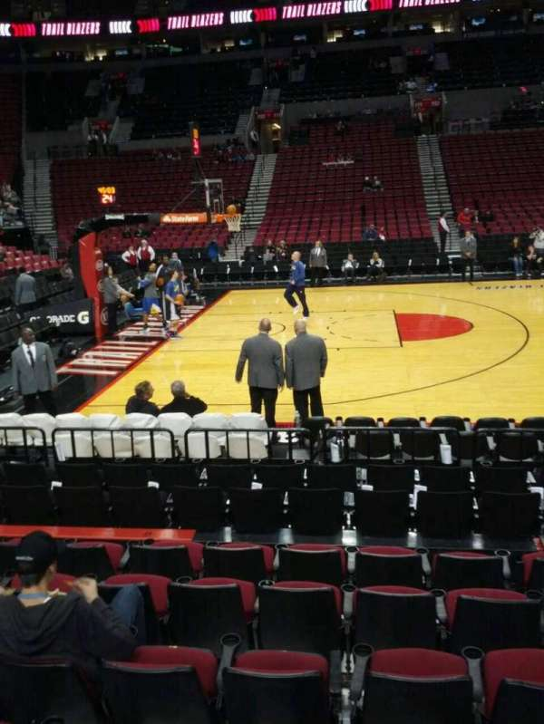 Moda Center, section: 102, row: g, seat: 6