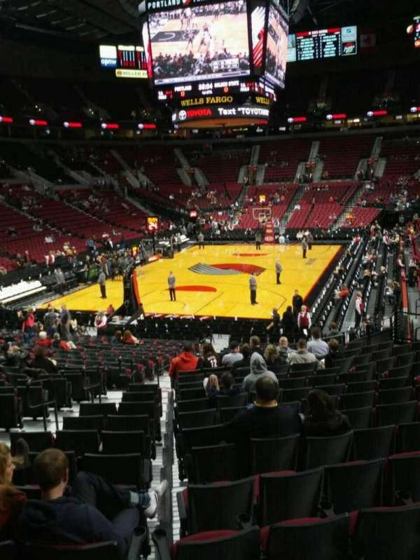 Moda Center, section: 222, row: a, seat: 4