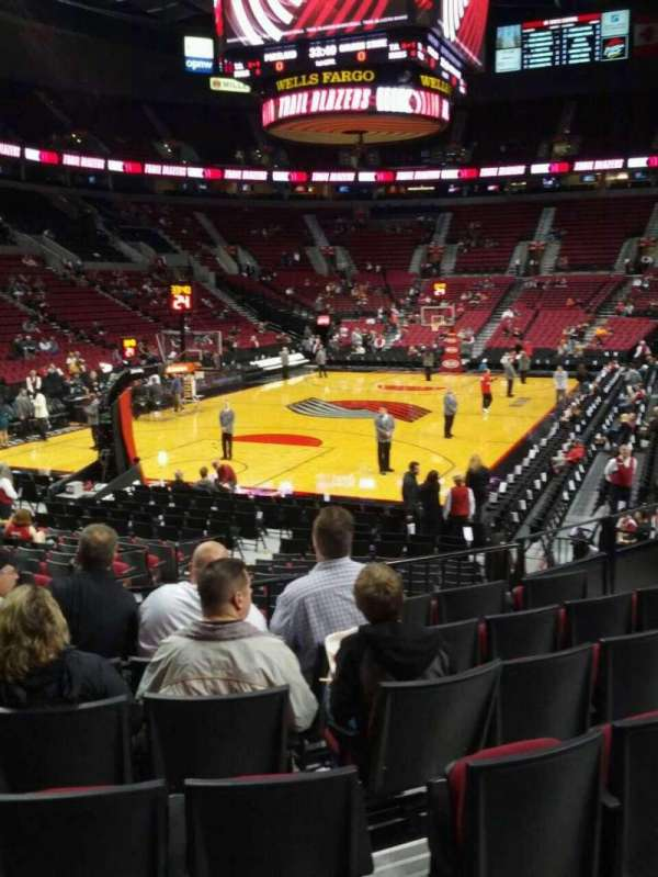 Moda Center, section: 116, row: g, seat: 11