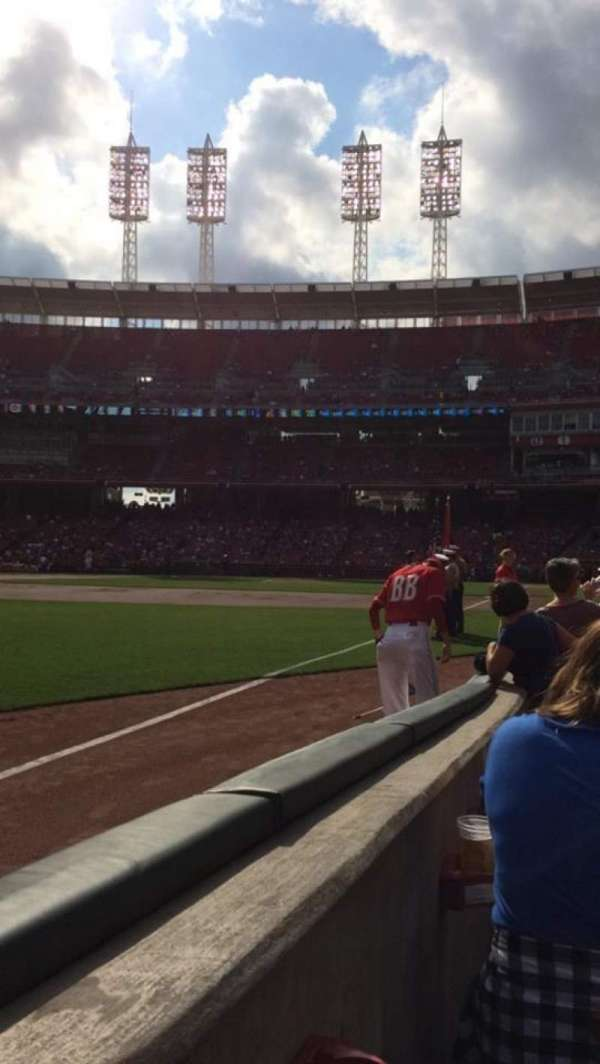 Great American Ball Park, section: 111, row: D, seat: 17