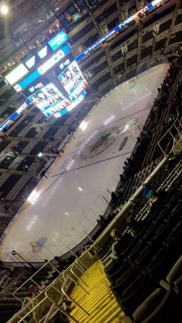 SAP Center, section: 218, row: 15, seat: 21