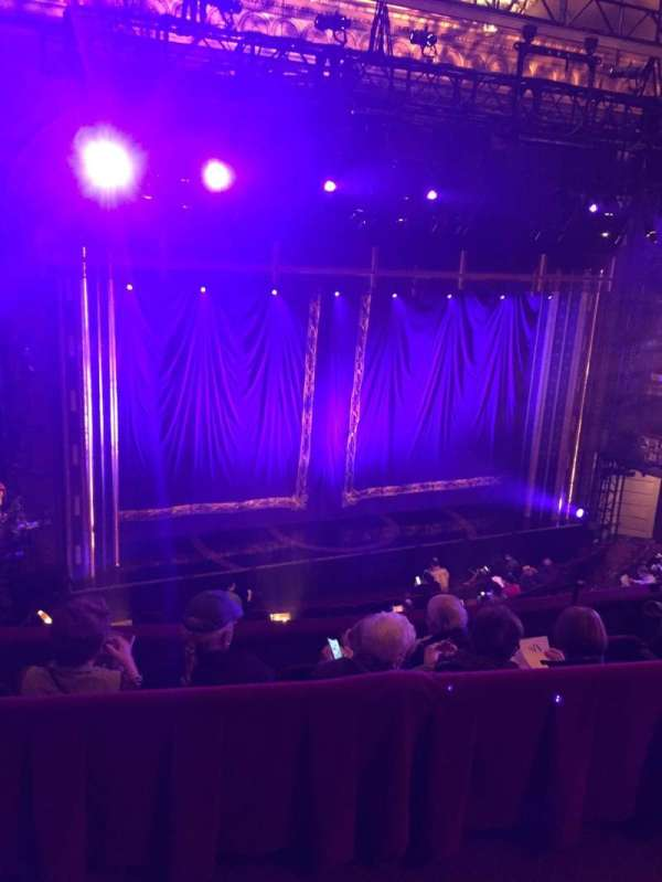 Brooks Atkinson Theatre, section: Rear Mezzanine LC, row: E, seat: 128