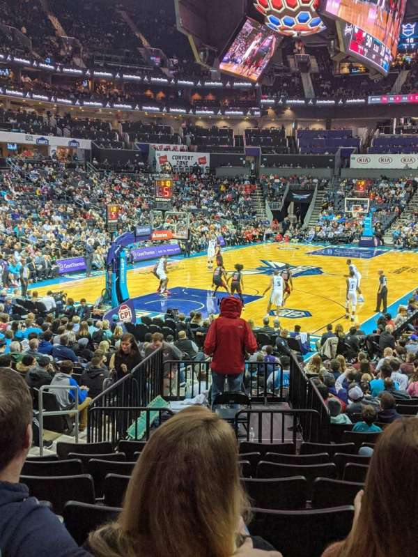 Spectrum Center, section: 115, row: P, seat: 17