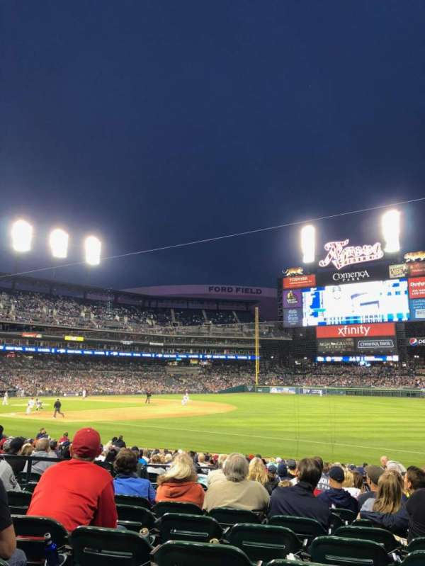 Comerica Park, section: 116, row: 22, seat: 8