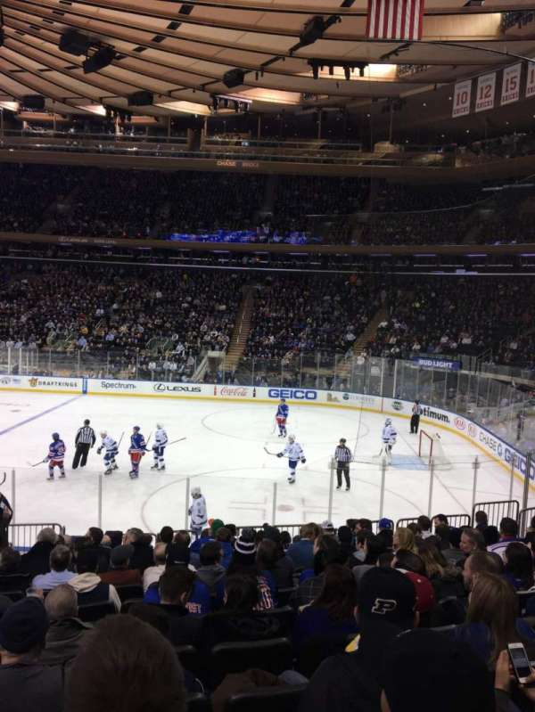 Madison Square Garden, section: 109, row: 14, seat: 6