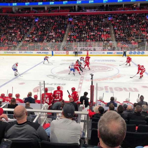 Little Caesars Arena, section: 122, row: 11, seat: 9