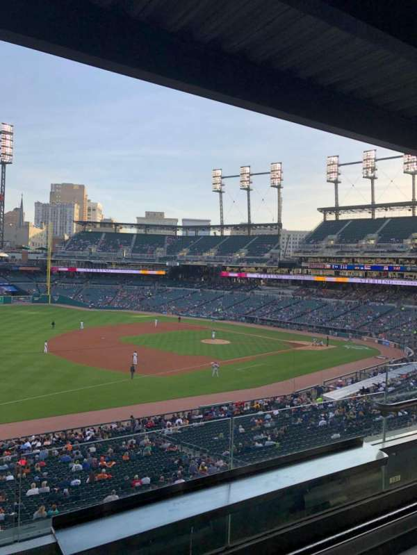 Comerica Park, section: Tiger Club, row: B, seat: 19