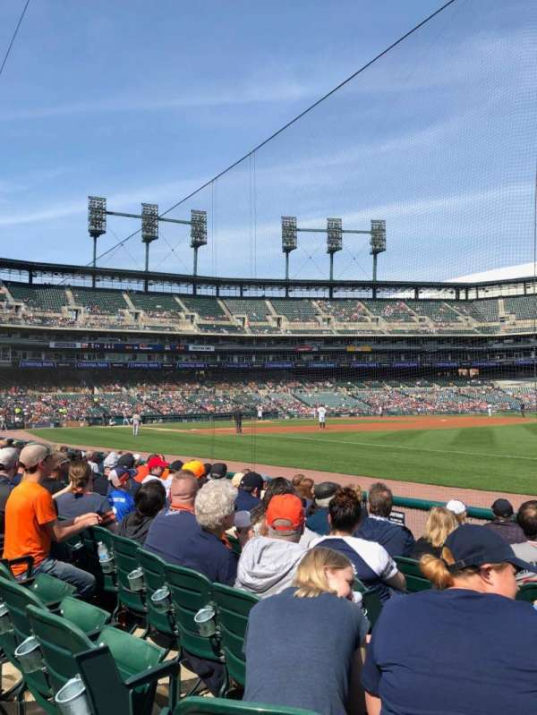 Comerica Park, section: 114, row: 8, seat: 13