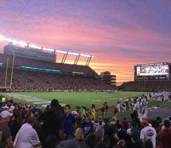 Williams-Brice Stadium, section: 15, row: 9, seat: 11