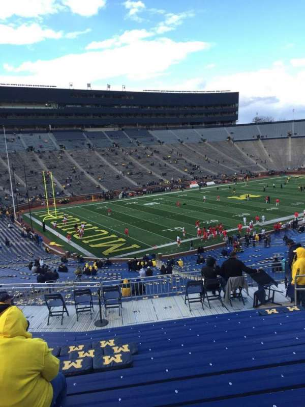 Michigan Stadium, section: 6, row: 69, seat: 3