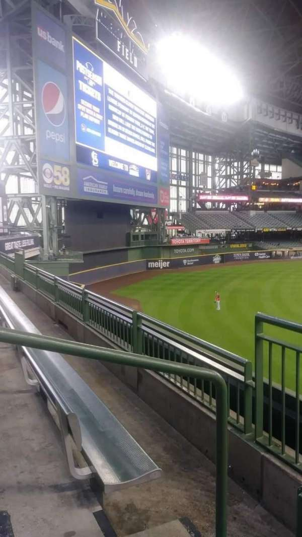 American Family Field, section: 234, row: 2, seat: 12