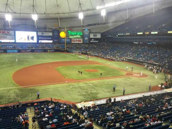 Tropicana Field, section: 213, row: A, seat: 15