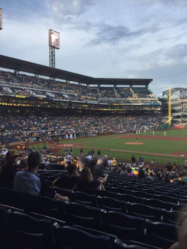 PNC Park, section: 109, row: W, seat: 4