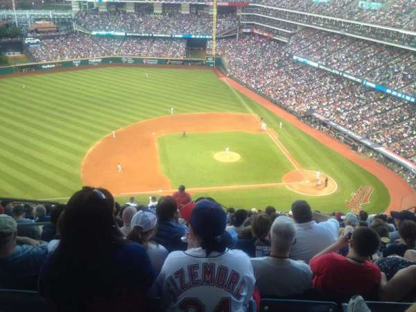 Progressive Field, section: 561, row: T, seat: 21
