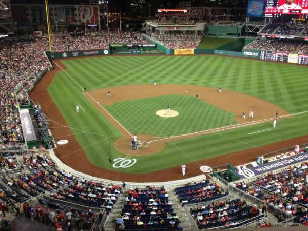 Nationals Park, section: 315, row: A, seat: 4