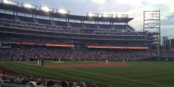 Nationals Park, section: 135, row: M, seat: 2