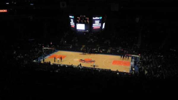 Madison Square Garden, section: 412, row: e, seat: 1