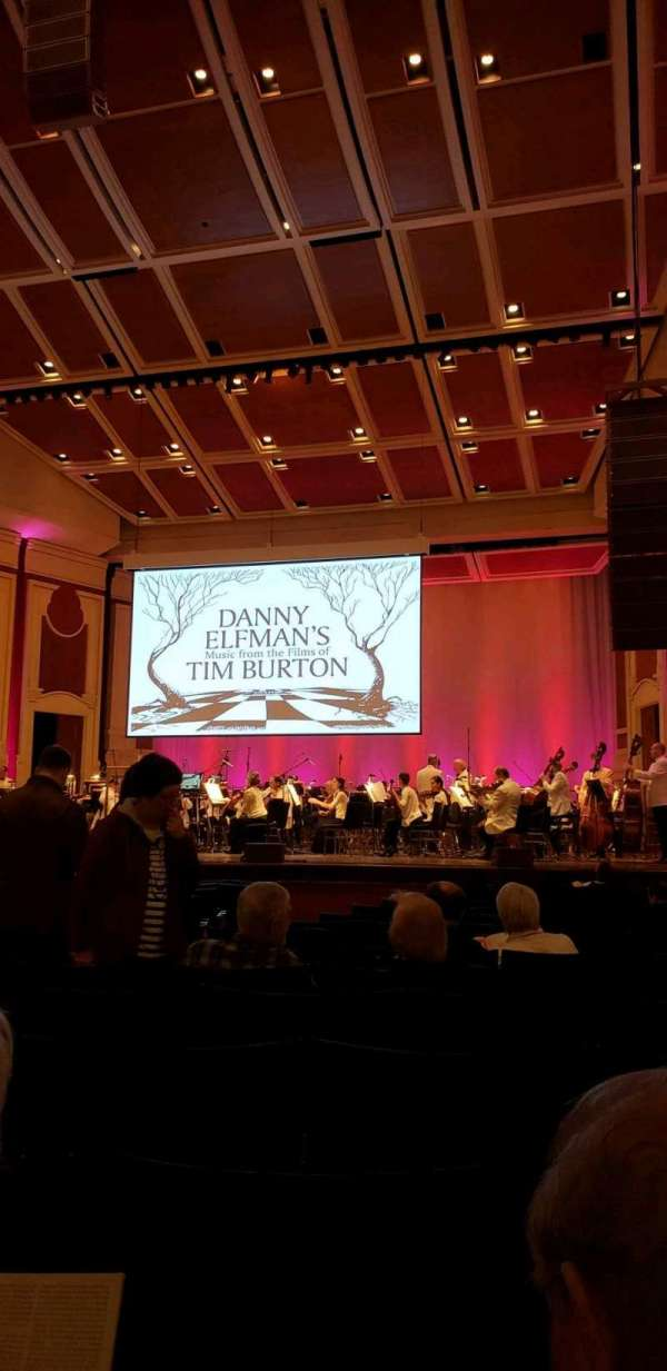 Heinz Hall, section: Orchestra R, row: P, seat: 10