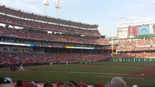 Great American Ball Park, section: 130, row: M, seat: 1