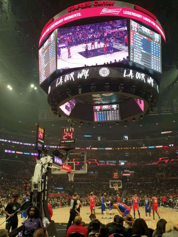 Staples Center, section: 106, row: G, seat: 5