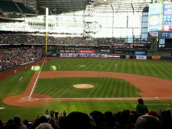 Miller Park, section: 215, row: 15, seat: 14