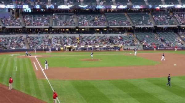 Miller Park, section: 206, row: 1, seat: 14