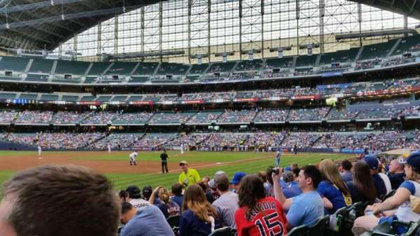Miller Park, section: 126, row: 8, seat: 16