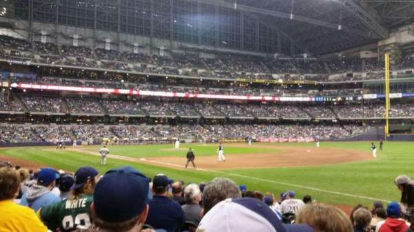 Miller Park, section: 109, row: 12, seat: 3