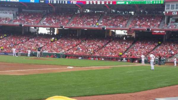 Great American Ball Park, section: 113, row: B, seat: 13