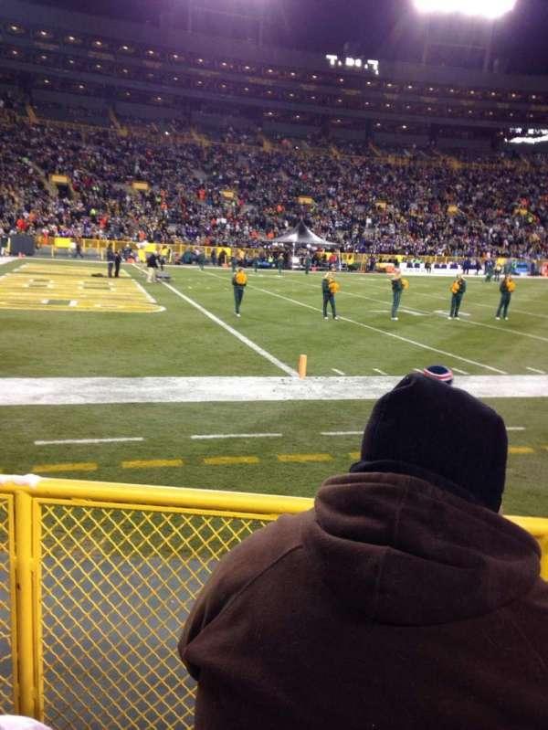 Lambeau Field, section: 110, row: 3, seat: 3